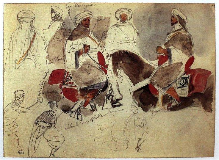 Eugène Delacroix-Carnet d'un voyage au Maroc