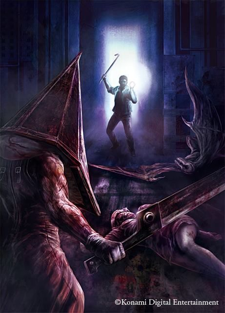 Silent Hill artwork by Masahiro Ito.