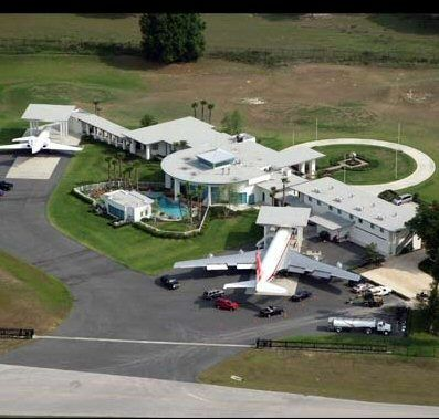John Travolta's home...  Notice his personal Boeing 707 and Gulfstream jet.