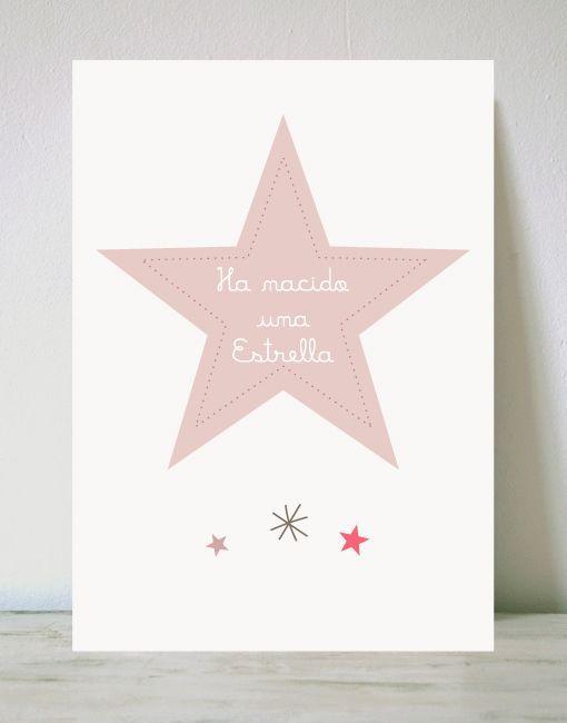 L mina estrella para beb s paredes bonitas para beb s - Laminas vinilicas para paredes ...