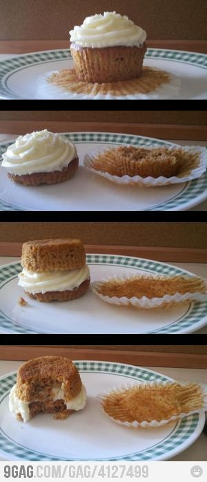 Again, why didn't I think of that? I've been eating cupcakes wrong all along!