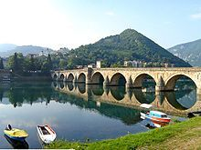 Mehmed Paša Sokolović Bridge, completed in 1577 by Mimar Sinan, the greatest architect of the classical period of Ottoman architecture.
