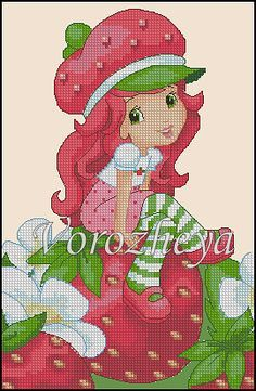 Strawberry Shortcake Cross Stitch Patterns | Strawberry shortcake ~ Orange Blossom