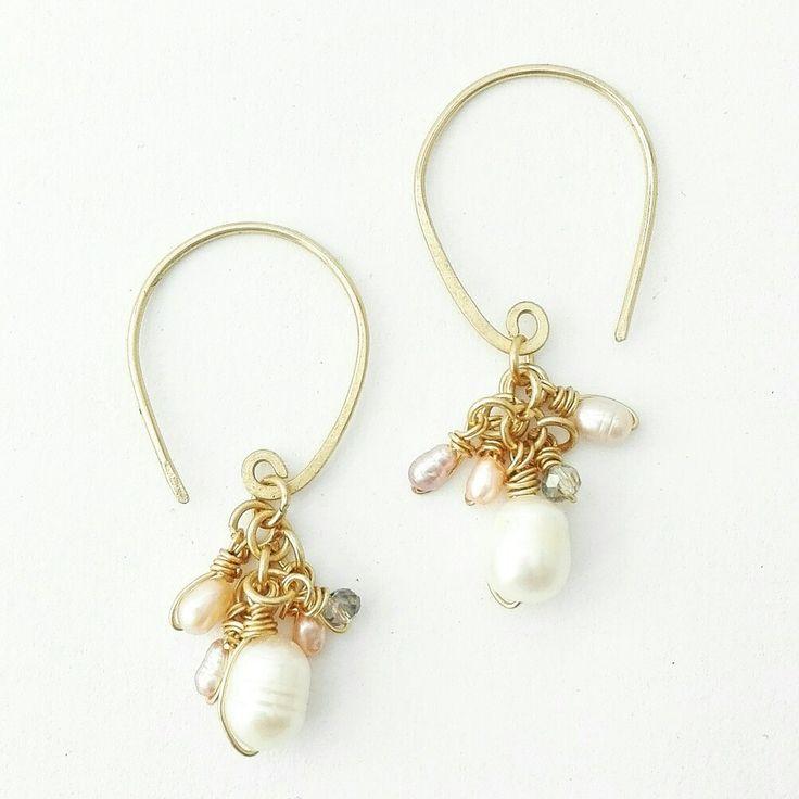 Disbau lovely pearl earrings <3