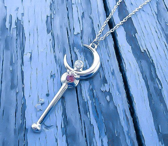 Sailor Moon Necklace Sailor Moon Wand Wand by KingsfieldInn