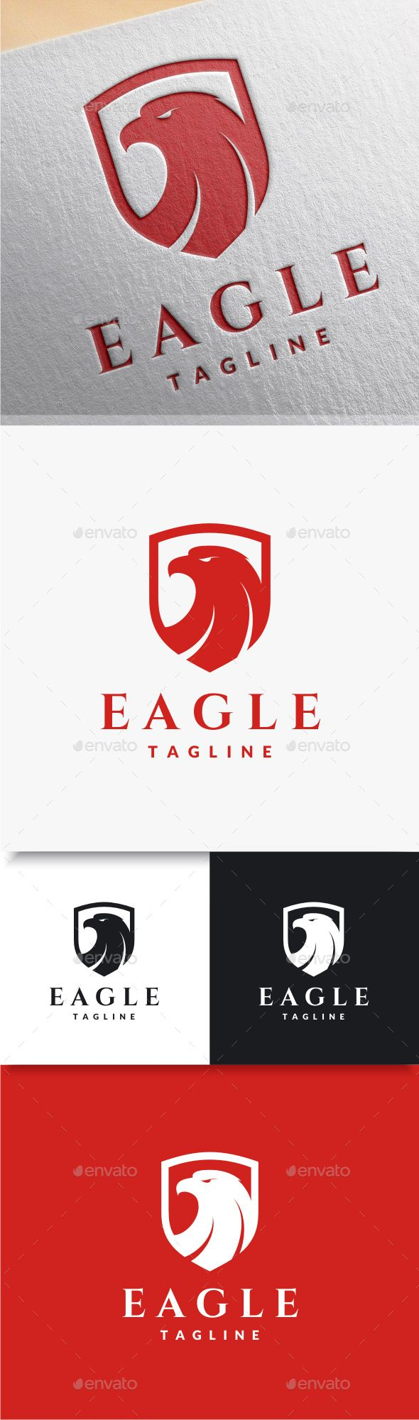 Eagle Shield Logo — Photoshop PSD #shield #head • Available here → https://graphicriver.net/item/eagle-shield-logo/8282893?ref=pxcr
