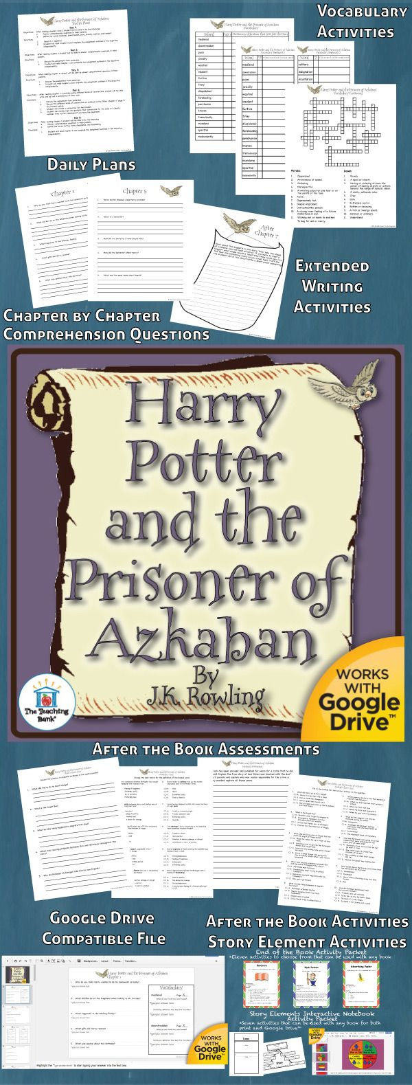 Harry Potter and the Prisoner of Azkaban Novel Study is a Common Core Standard aligned book unit to be used with Harry Potter and the Prisoner of Azkaban by J.K. Rowling. This download contains both a printable format as well as a Google Drive™ compatible format.