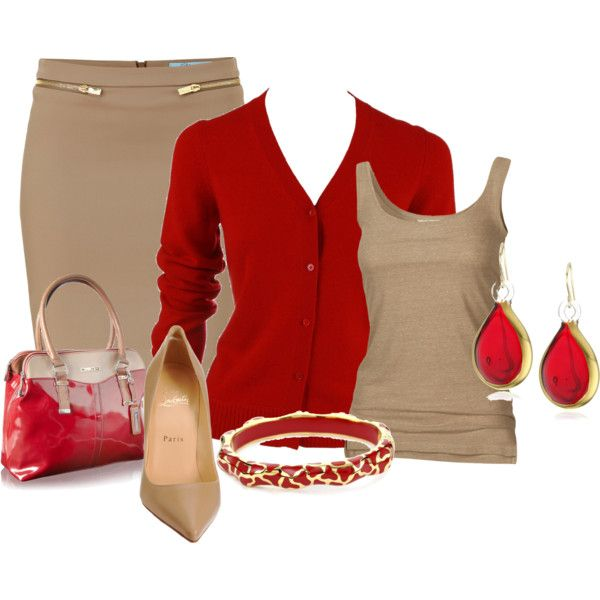 Work Outfit: Work Clothing, Colors Combos, Work Looks, Red, Style, Fashionista Trends, Pencil Skirts, Currently, Work Outfits