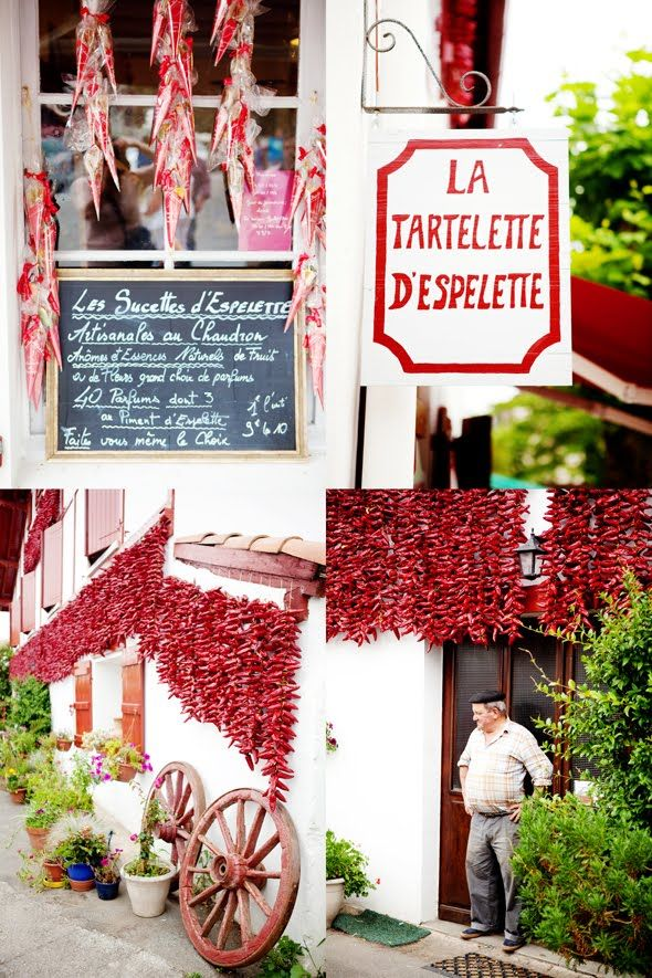 Espelette - French basque countryside famous for its red peppers