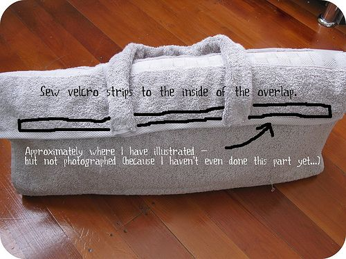 Adorei esteira/bolsa feita de toalha para levar as coisas e deitar na areia