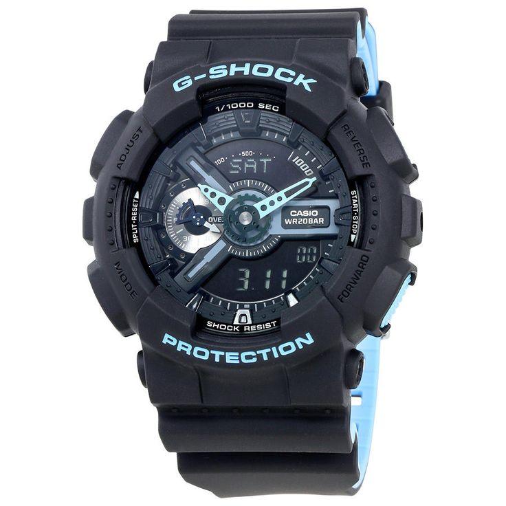 Casio G-Shock Black Dial Mens Multifunction Two Tone Watch GA110LN-1A
