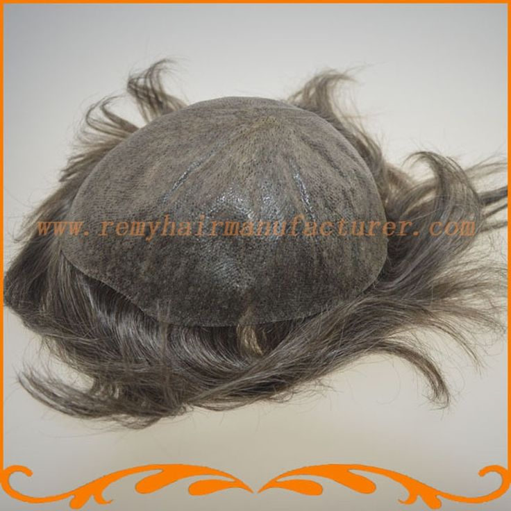 130.00$  Watch now - http://aliizw.worldwells.pw/go.php?t=32274141583 - Full PU thin skin toupee base size 8*10inch can be cut V-looped Indian hair toupee mens hair piece stock free shipping