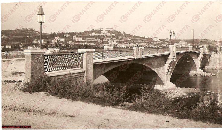 Verona storica - Ponte Catena in una fotografia d'epoca del 1932.
