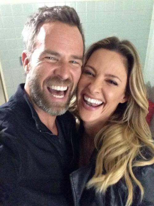 JR Bourne & Jill Wagner. Sibling love!
