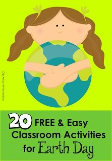 Earth Day is April 22nd! Need some easy and FREE activities/printables? Pin this post!