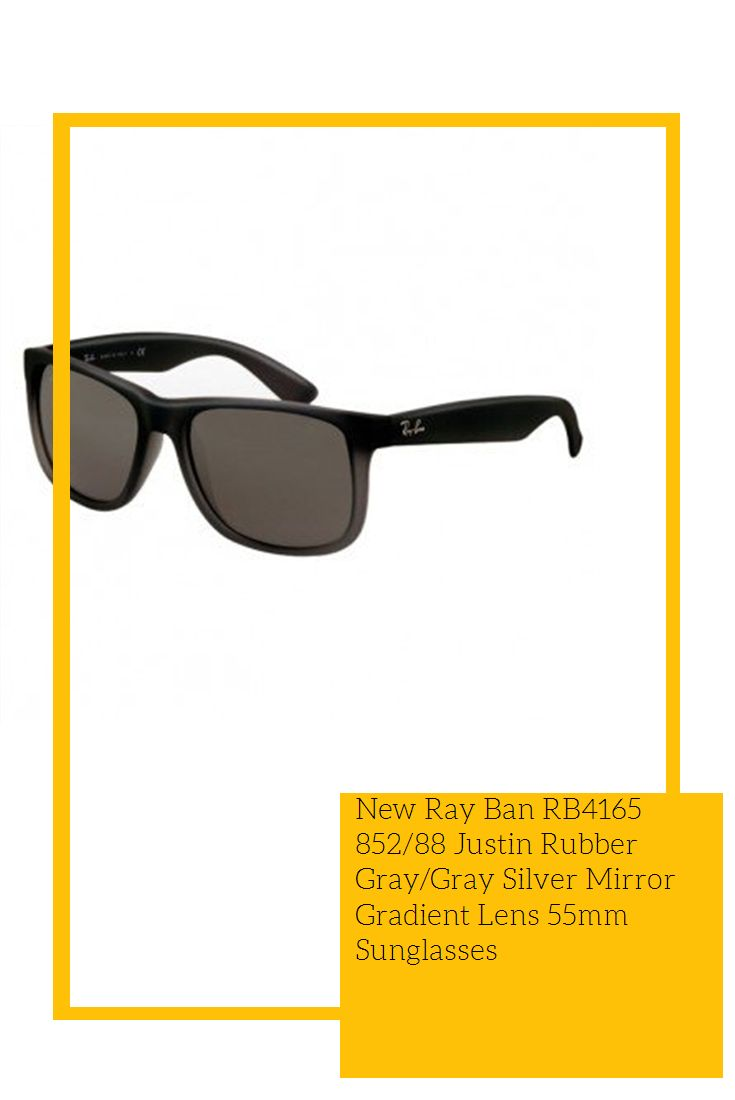 beb530401c New Ray Ban RB4165 852 88 Justin Rubber Gray Gray Silver Mirror Gradient  Lens 55mm Sunglasses  hot