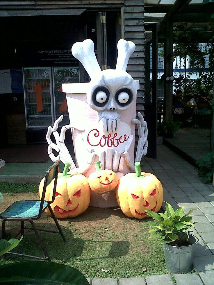 Halloween coffee cup