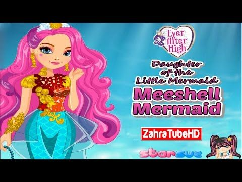 Ever After High   Meeshell Mermaid   Dress Up Game   Children Games