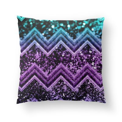 4f52290b68f3 Unicorn Glitter Chevron #4 #shiny #decor #art Pillow by AnitaBellaArt from  €22.50 | miPic