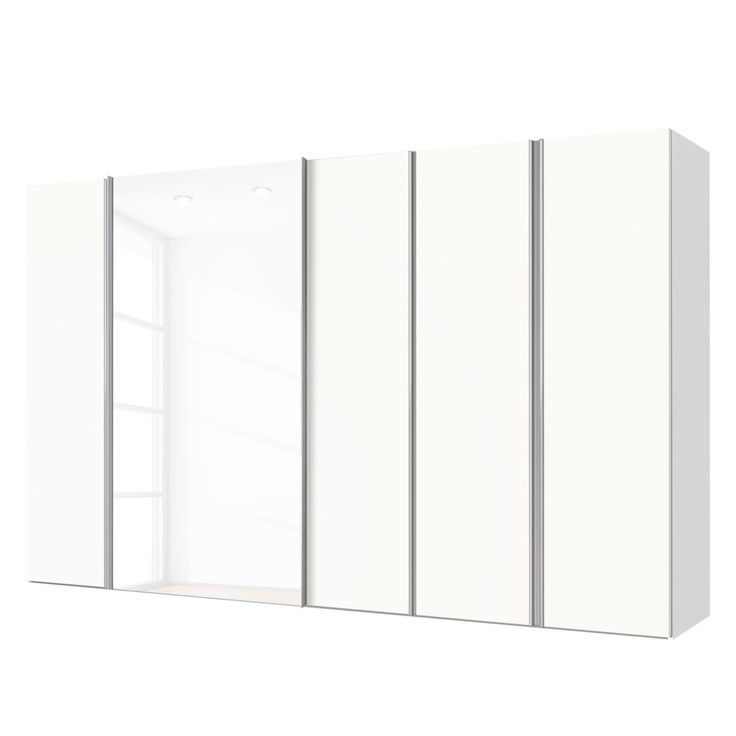 Kombischrank Mac - Polarweiß / Weißglas - 300 cm (5-türig), Express Möbel Jetzt bestellen unter: https://moebel.ladendirekt.de/wohnzimmer/schraenke/weitere-schraenke/?uid=512a27fd-3ded-5134-a77b-c585339dac21&utm_source=pinterest&utm_medium=pin&utm_campaign=boards #möbel #schraenke #express #wohnzimmer #weitereschraenke #schlafzimmer #kleiderschränke
