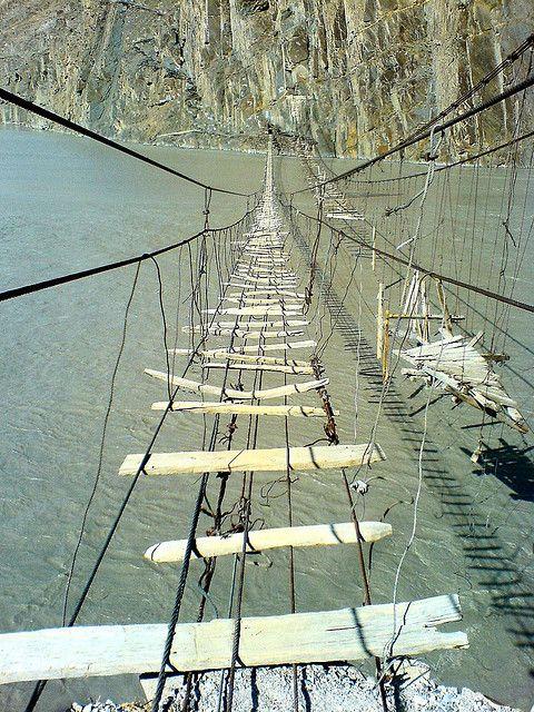 Long Hussaini Suspension Bridge Near Passu