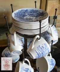 Like you'd expect to find at a French brocante...you get the look, but for a fraction of the price! The French bottle drying racks are perfect for, well, of course bottle drying, but for hanging coffe