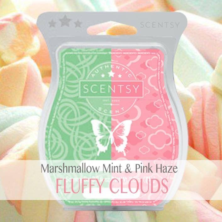 Scentsy Mixology Marshmallow Mint Pink Haze