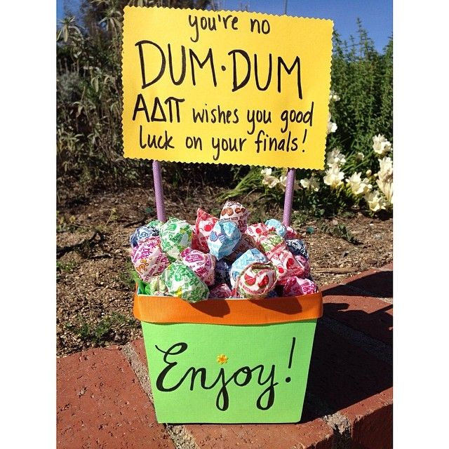 Check out this cute idea from Alpha Chi-UCLA. They dropped off these treats in all the libraries on campus.