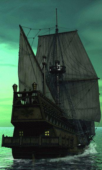 barco mar verde gif