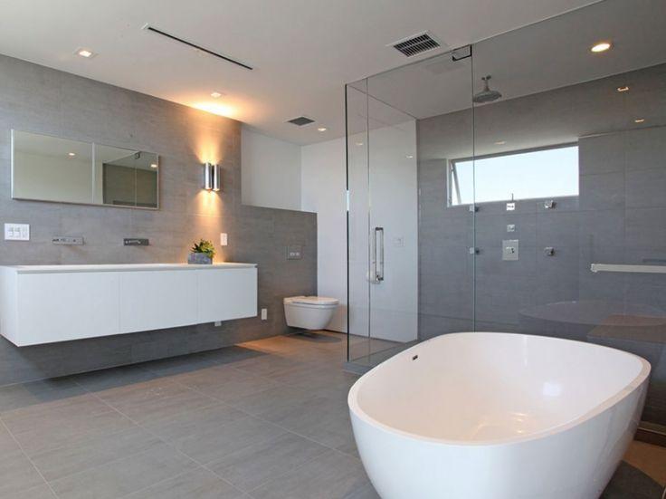 Moderne Badezimmer, Traumhaus, Wohnen, Moderne Häuser, Moderne Villa,  Modernes Weißes Badezimmer, Minimalistisches Badezimmer, Bad Schrank, Ideen