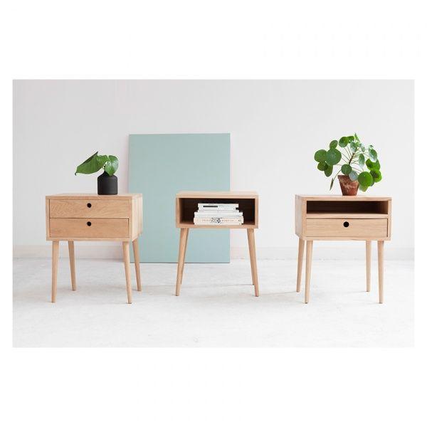Nattbord med 2 skuffer | håndlaget - Nova Design