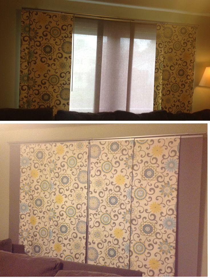 New panel curtains using the ikea kvartal track system for Binario kvartal ikea
