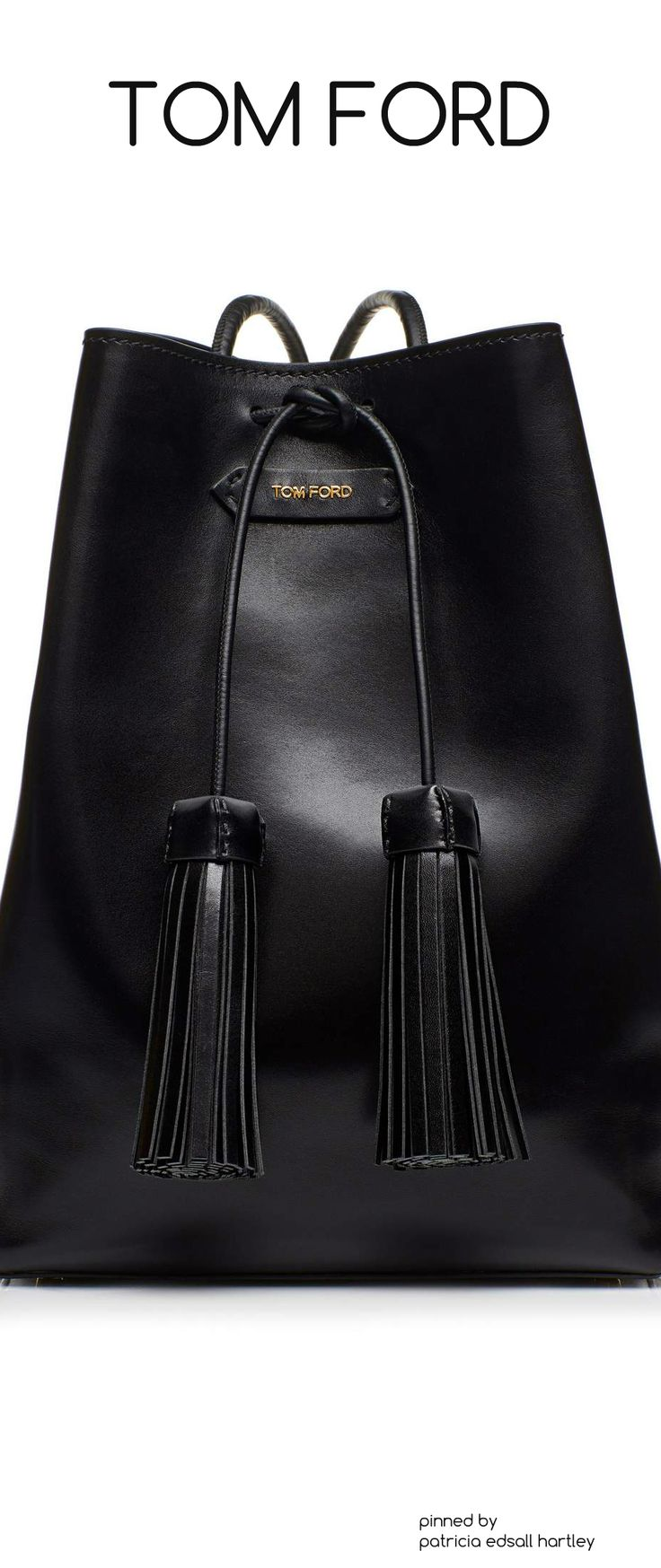 Black Tom Ford Tassel Bucket Bag. Gorgeous!