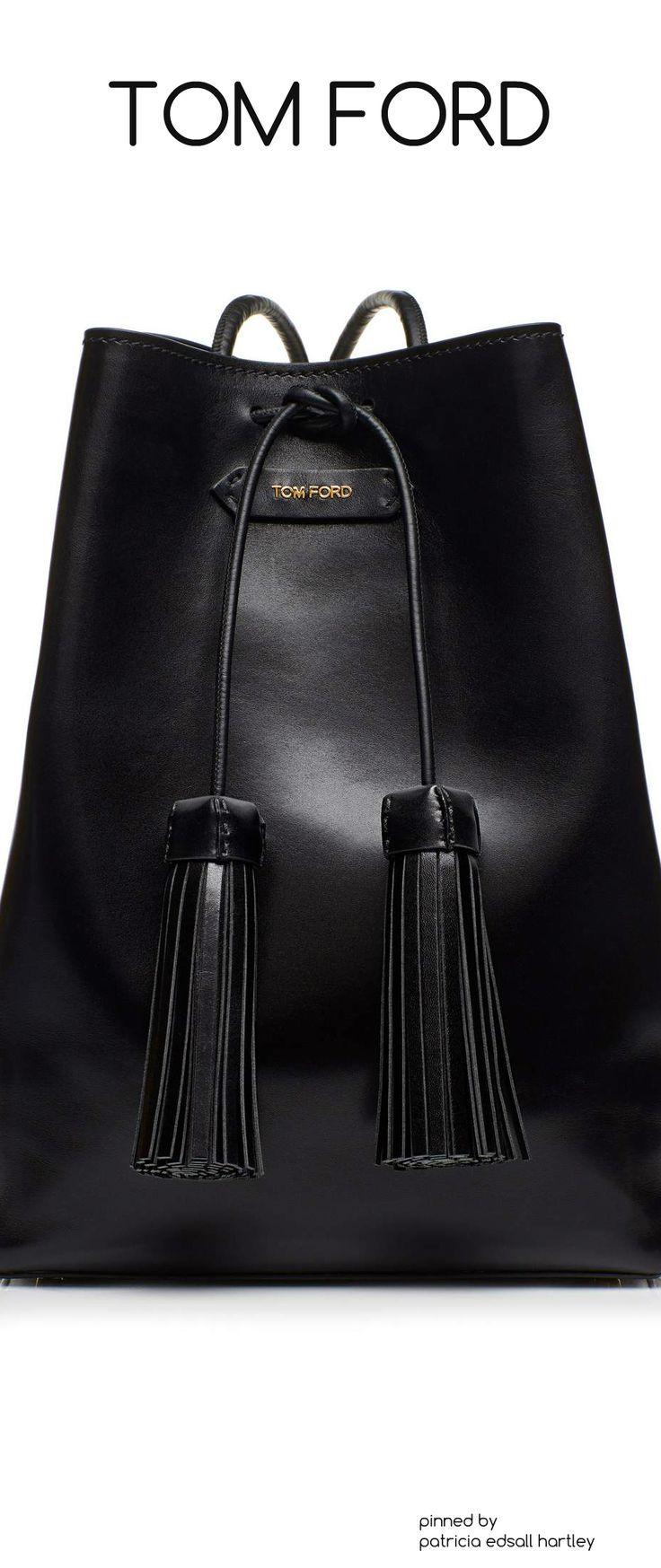 Black Tom Ford Tassel Bucket Bag. Gorgeous!   For More  handbags 2017 trends   Click Here http://moneybuds.com/Handbags/
