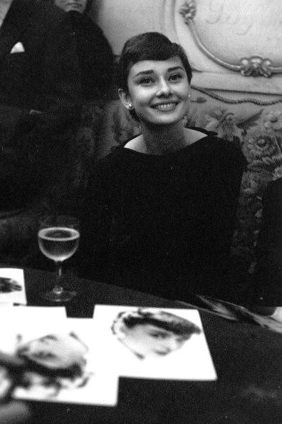 Audrey Hepburn in Paris, France; March 03, 1955.