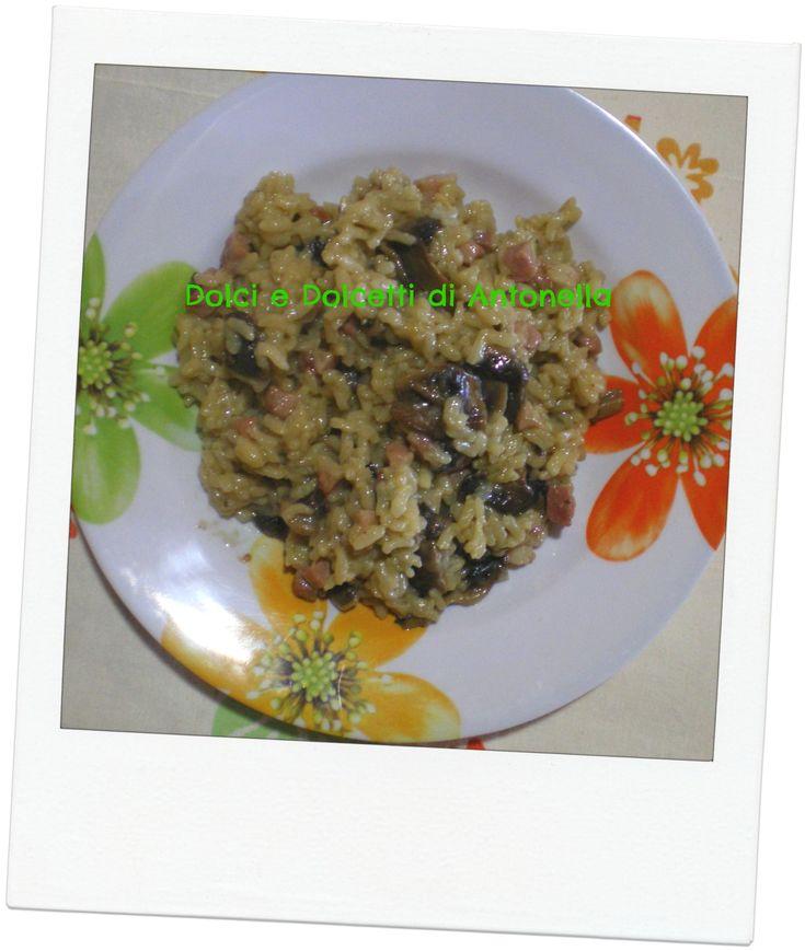 risotto funghi e pancetta,ricetta veloce al microonde