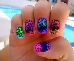 NeoonnCheetahs Nails, Nails Art, Leopards Prints, Animal Prints, Neon Nails, Leopards Nails, Prints Nails, Cheetahs Prints, Lisa Frank