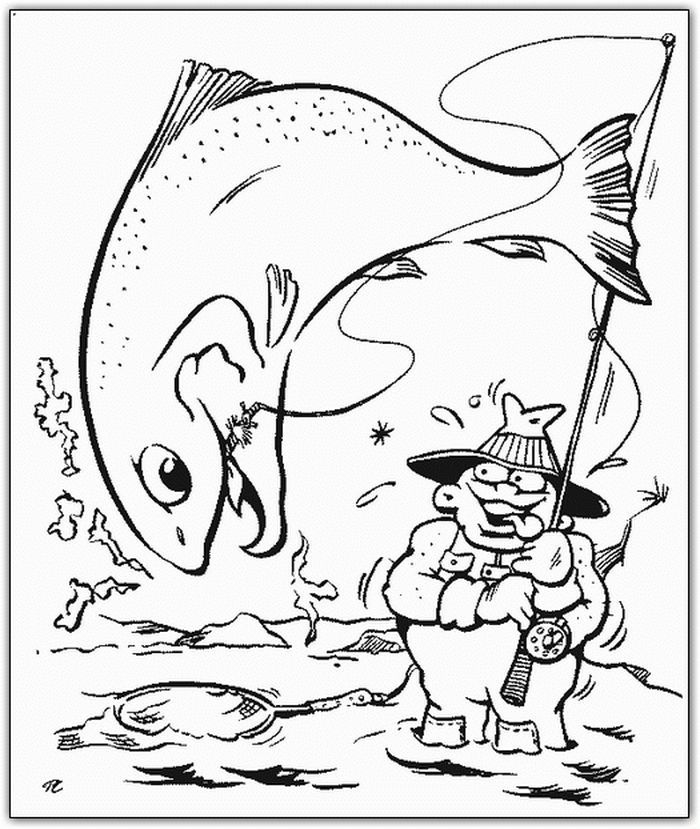 Bass Fish And Fishing Pole Coloring Pages American Flag Coloring Page Fathers Day Coloring Page Cool Coloring Pages