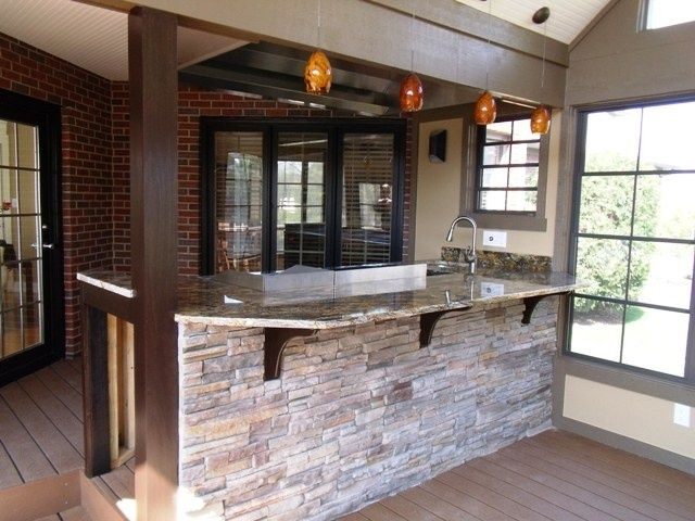 Stone Veneer Bar Front Stacked Stone Veneer Bar Front