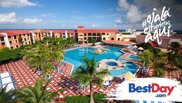 El Hotel Cozumel and Resort ofrece una atractiva alternativo programa Todo Incluido con tarifas accesibles, ideal para disfrutar unas vacaciones junto a las playas del Mar Caribe. Construido en forma de herradura alrededor de la piscina, el hotel cuenta con 181 habitaciones, con salón para eventos y amplios jardines. Su ubicación a unos pasos de la playa y cerca del centro, permite gozar de los atractivos de Cozumel. También es conveniente para los amantes del buceo. #OjalaEstuvierasAqui