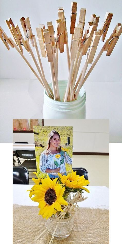 Glue photos on paper and pens and paste them into a rustic graduation party ... - #Declosure #on #one #one #Photos