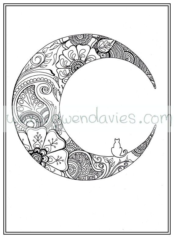 Adult colouring in PDF download