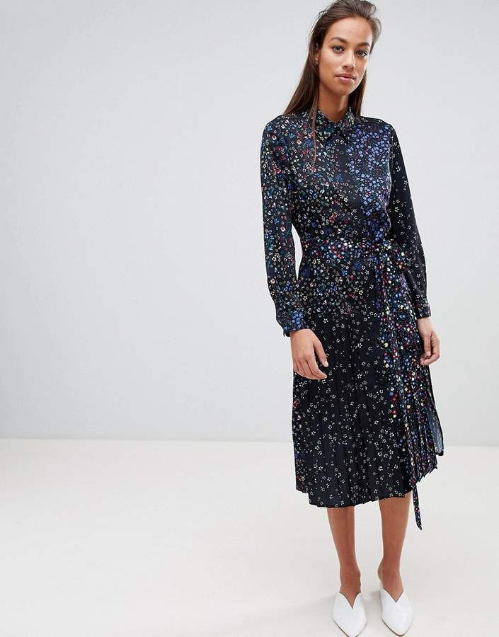 63f7565b8056 French Connection Midi Shirt Dress in Obine Floral | Modest ASOS in ...