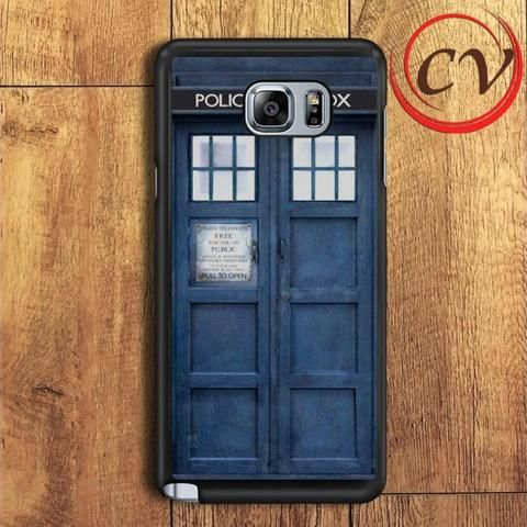 Police Box Tardis Doctor Who Samsung Galaxy Note 7 Case