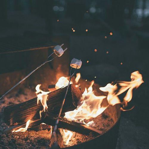 "fall-into-autumn98: "" thebeautyofautumnnights: "" my perfect night involves smores and bonfires "" autumn blog """