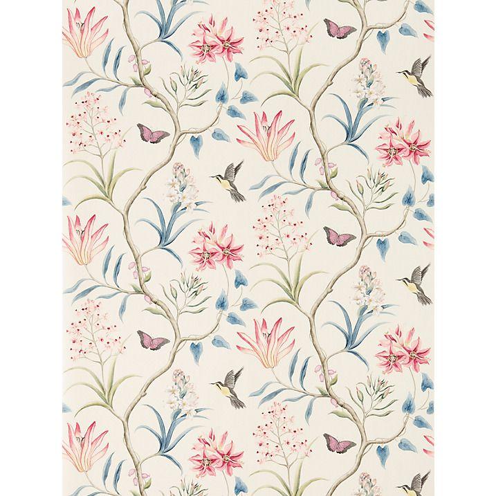 Buy Sanderson Clementine Wallpaper, Indienne,DVOY213387 Online at johnlewis.com
