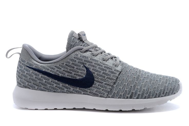 Nike Flyknit Roshe Run Gray Training Shoes Womens