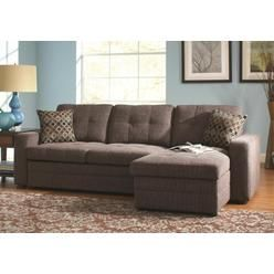 501677 Gus Small Sectional Sofa with Left Hand Facing Chaise and Right Hand Facing Sofa Bed in - Sears