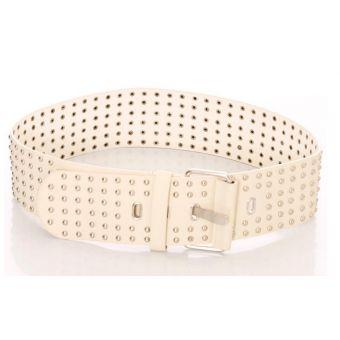 Accessoires ceinture blanche cloutée - bestyle29.com