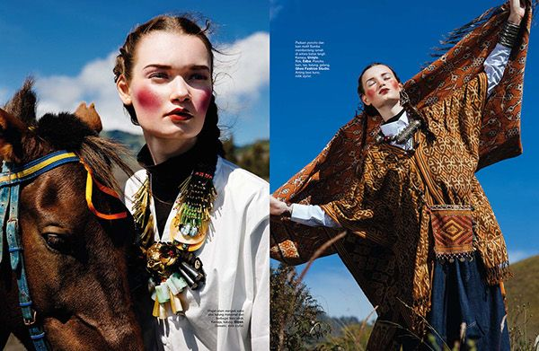 Journey to The East Harper's Bazaar Indonesia September 2014   Photography by Nicoline Patricia Malina Fashion Editor: Michael Pondaag Hair & Make Up: Qiqi Franky & Team Producer: Melvin Roberto Assistant Fashion Editor: Veronica Arviana Assistant Lighting: Agus Santoso Model: Ksenia @WYNN Models